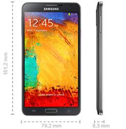 Samsung Galaxy Note 3 Abmessungen