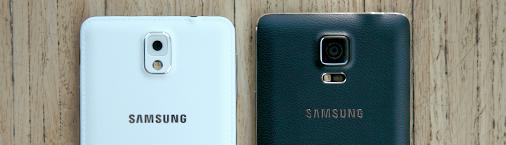 Rückansichten des Samsung Galaxy Note 3 + 4