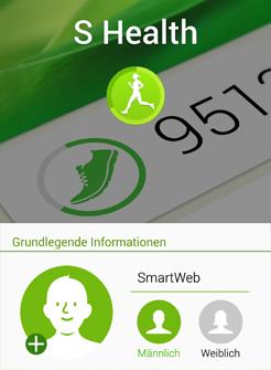 Trainingspan einrichten mit S-Health App von Samsung