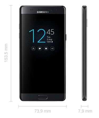 Samsung Galaxy Note 7 Abmessungen