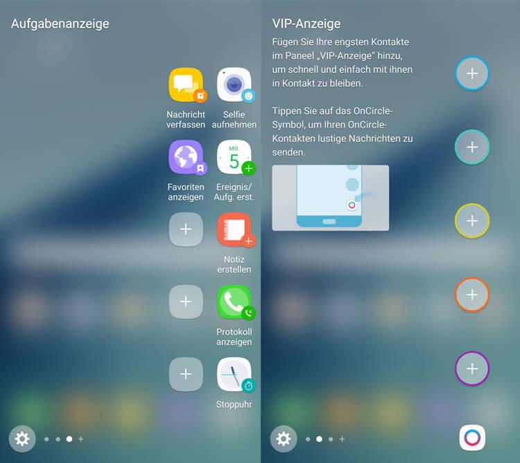 Seitenbildschirm Samsung Galaxy Note 7