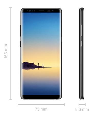 Abmessungen Samsung Galaxy Note 8 Maße