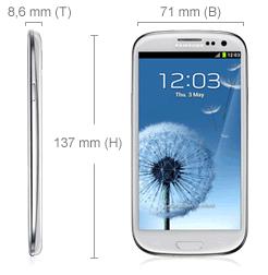 Samsung Galaxy S3 Abmessungen