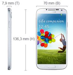 Abmessung Samsung Galaxy S4