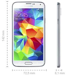 Samsung Galaxy S5 Maße Abmessungen