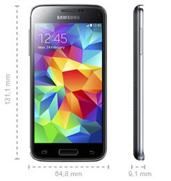 Samsung Galaxy S5 mini Abmessungen