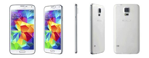 Samsung Galaxy S5 Ansichten