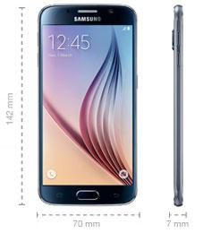 Samsung Galaxy S6 Maße Abmessungen