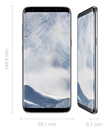Abmessungen Samsung Galaxy S8 Maße