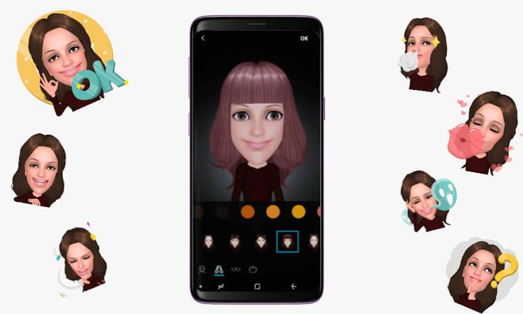 AR Emoji auf dem Samsung Galaxy S9