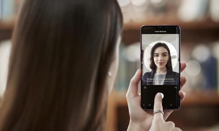 Samsung Galaxy S9 AR-Emoji Selfie erstellen
