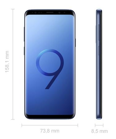 Maße Samsung Galaxy S9+ Abmessungen
