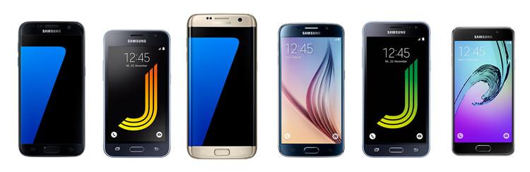 Samsung Galaxy Smartphones Auswahl