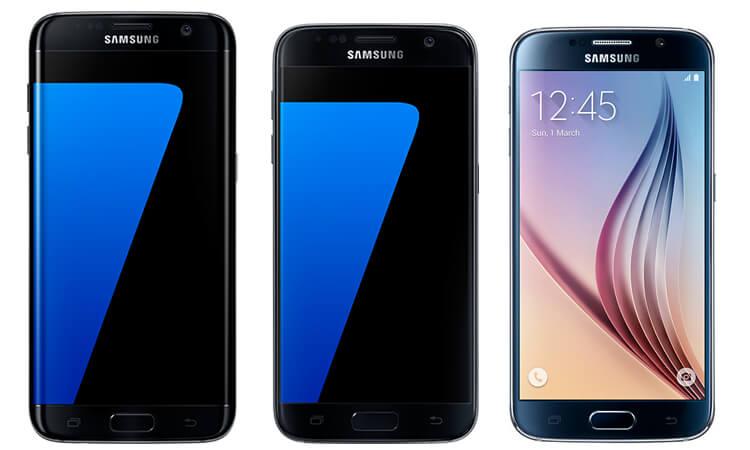 Samsung Galaxy S7 Edge, S7 und S6 im Vergleich