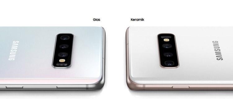 Samsung Galaxy S10 mit Glas- und S10+ mit Keramik-Rückseite