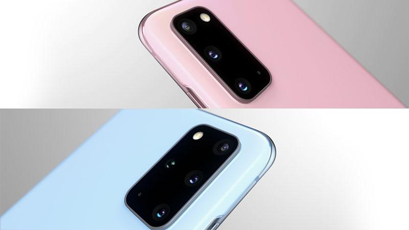 Samsung Galaxy S20 Farben: Cloud Blue und Cloud Pink