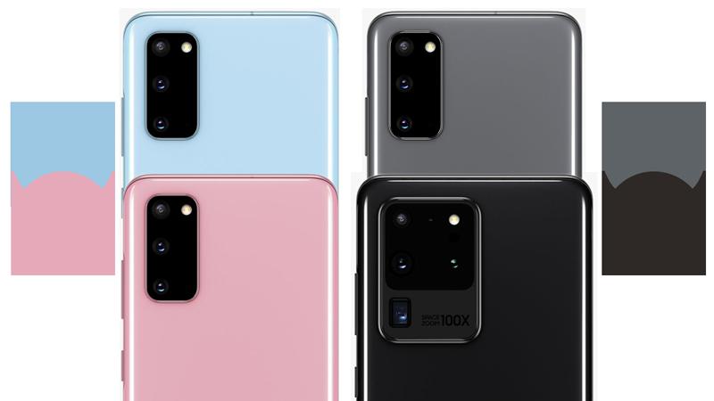 Farbübersicht Samsung Galaxy S20