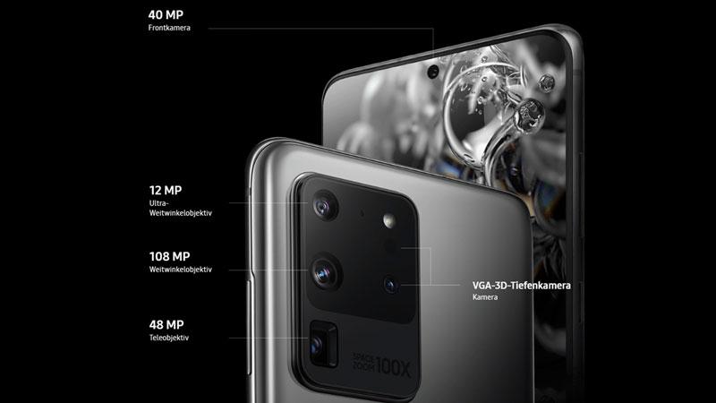 Das Kamera-System des Samsung Galaxy S20 Ultra