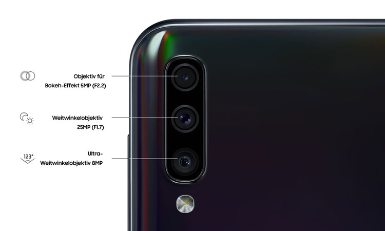 Samsung Galaxy A50 Details Kamera