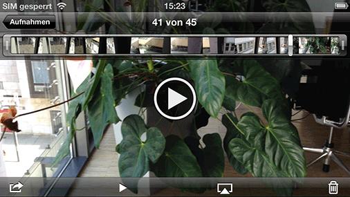 Clip-Wiedergabe mit dem iPhone 5