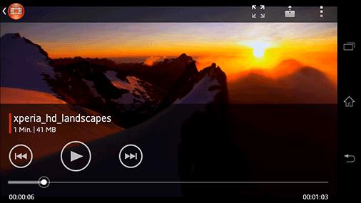 Videos abspielen auf dem Sony Xperia T