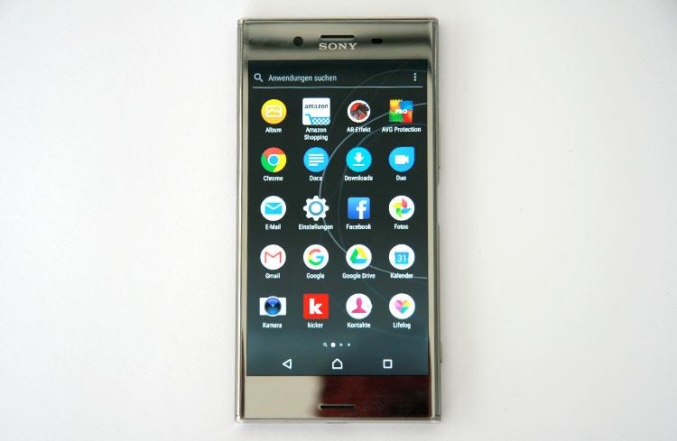 Sony Xperia XZ Premium App Menü