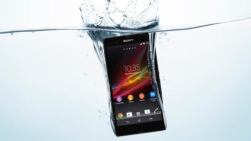 Wasserdichte-Text mit dem Sony Xperia Z