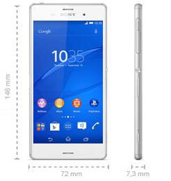 Sony Xperia Z3 Abmessungen