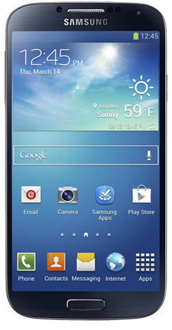 Samsung Galaxy S4 Startscreen