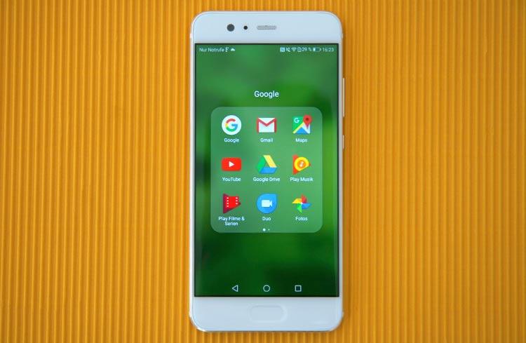 Huawei P10 App-Menü