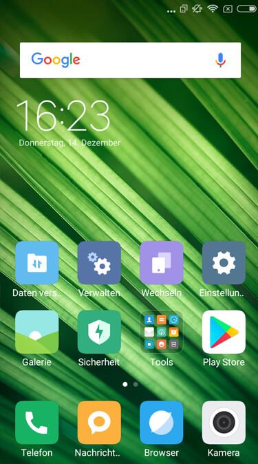 Startbildschirm Xiaomi Redmi 4A